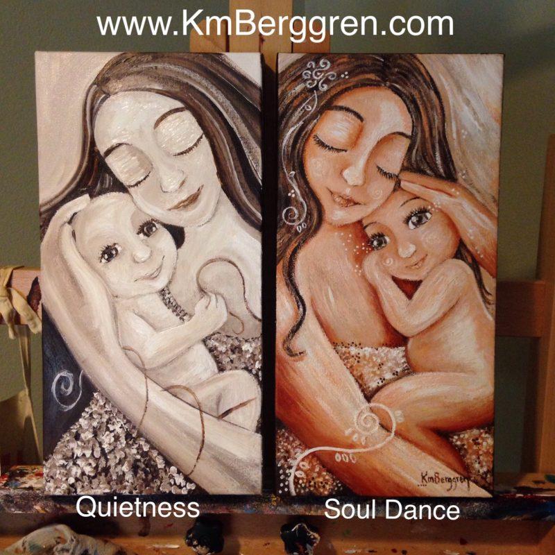 Quietness, painting in process by Katie m. Berggren