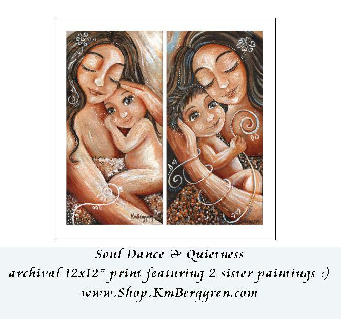 Soul Dance & Quietness - 12x12 print from Katie m. Berggren