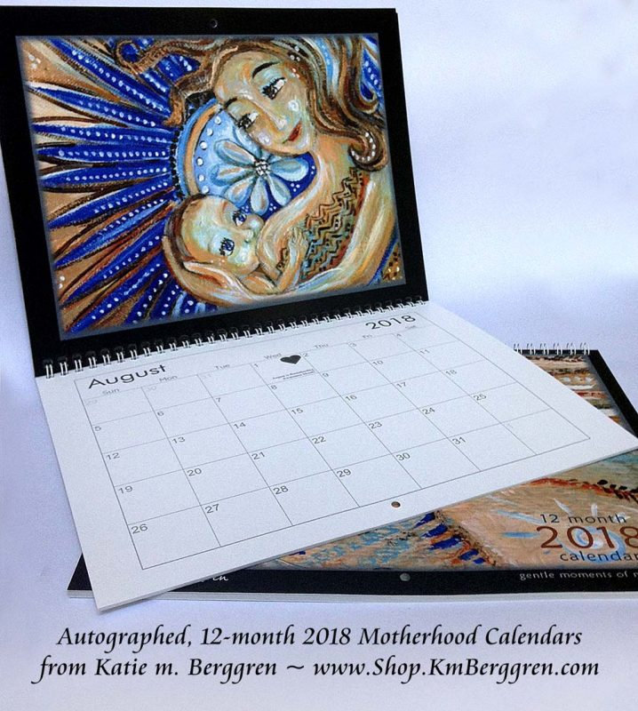 2018 Motherhood Calendars, www.shop.KmBerggren.com