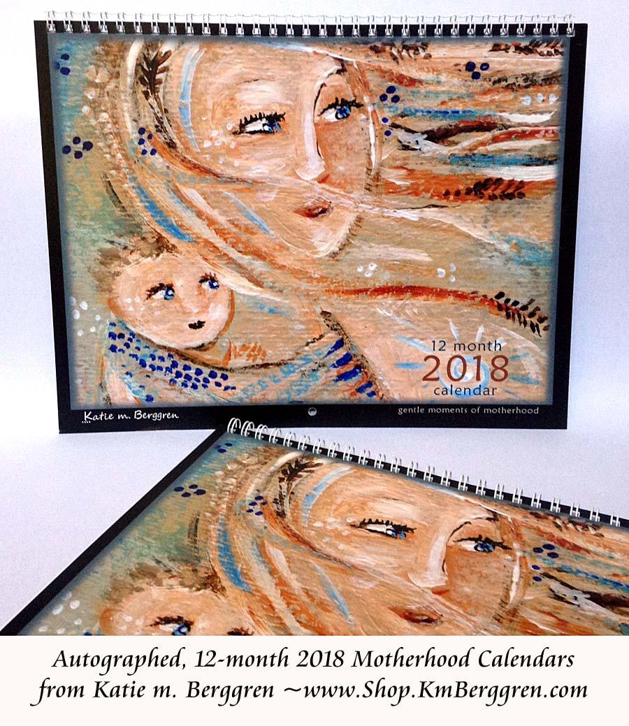2018 Motherhood Calendar, www.Shop.KmBerggren.com