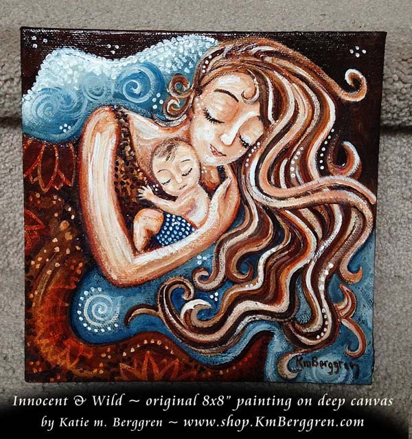 Innocent&Wild, new painting by Katie m. Berggren