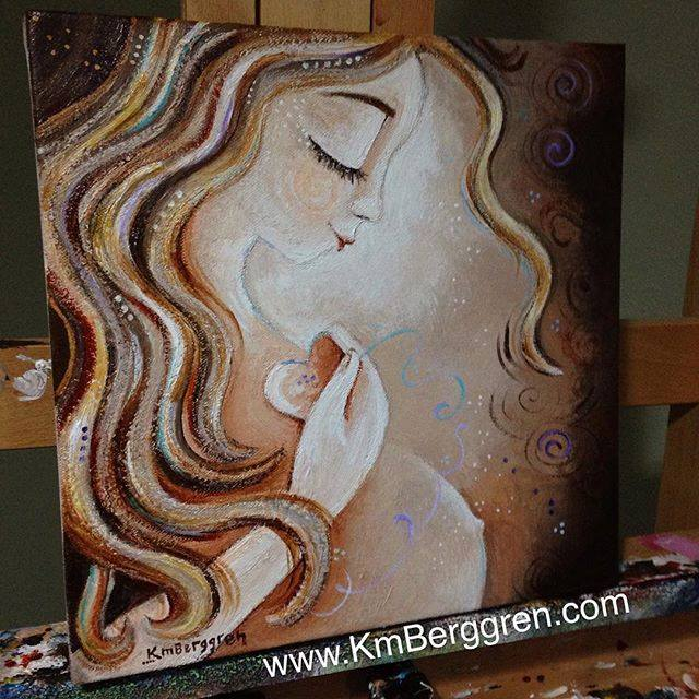 Grace & Growth, brand new pregnancy painting by Katie m. Berggren