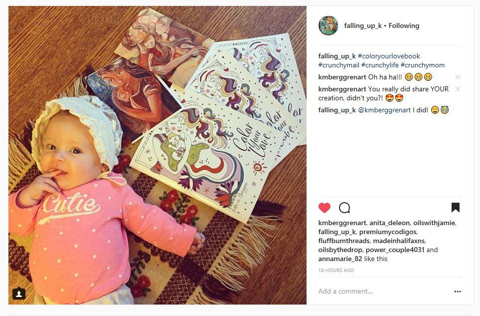 Color Your Love, motherhood coloring books from Katie m. Berggren Shop.KmBerggren.com