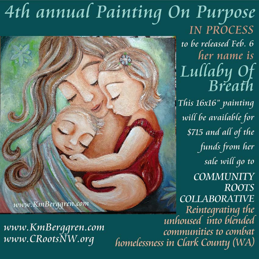 Painting On Purpose, 2018, the 4th annual, by Katie m. Berggren www.KmBerggren.com