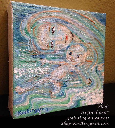 Float, new original painting from Katie m. Berggren