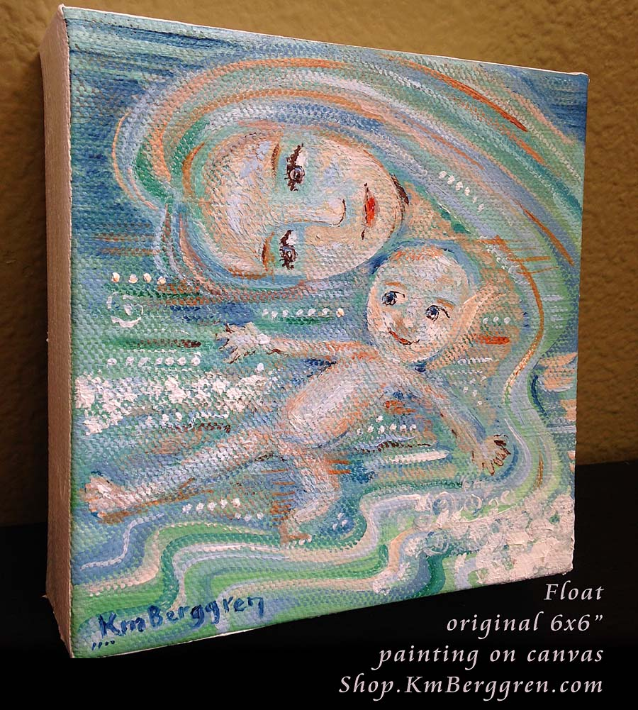 Float, new original painting from Katie m. Berggren