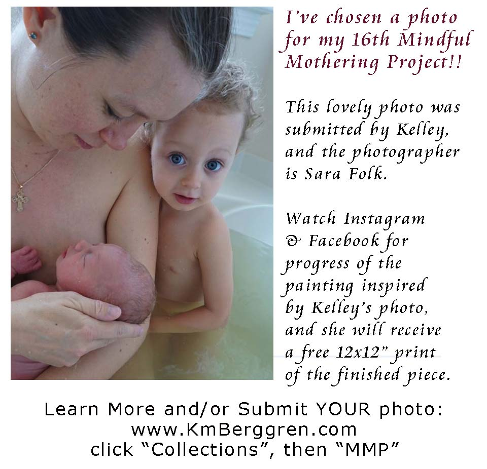Mindful Mothering Project painting #16, chosen photo
