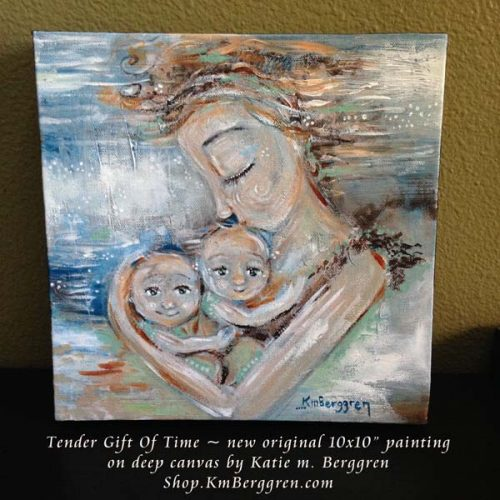 Tender Gift Of Time - new original painting by Katie m. Berggren