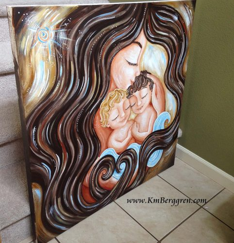 Dreaming Beautiful Dreams, new custom original painting by Katie m. Berggren