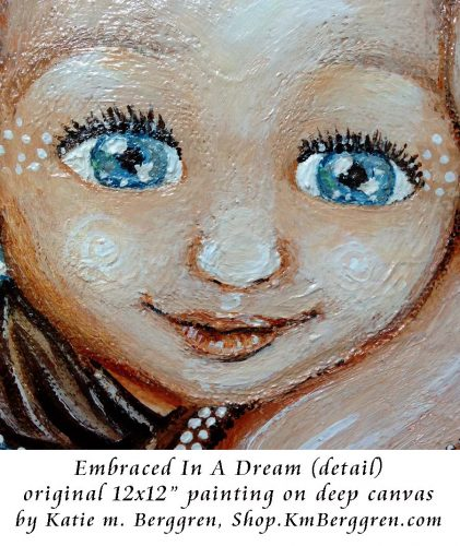 Embraced In A Dream, brand new painting by Katie m. Berggren, shop.KmBerggren.com