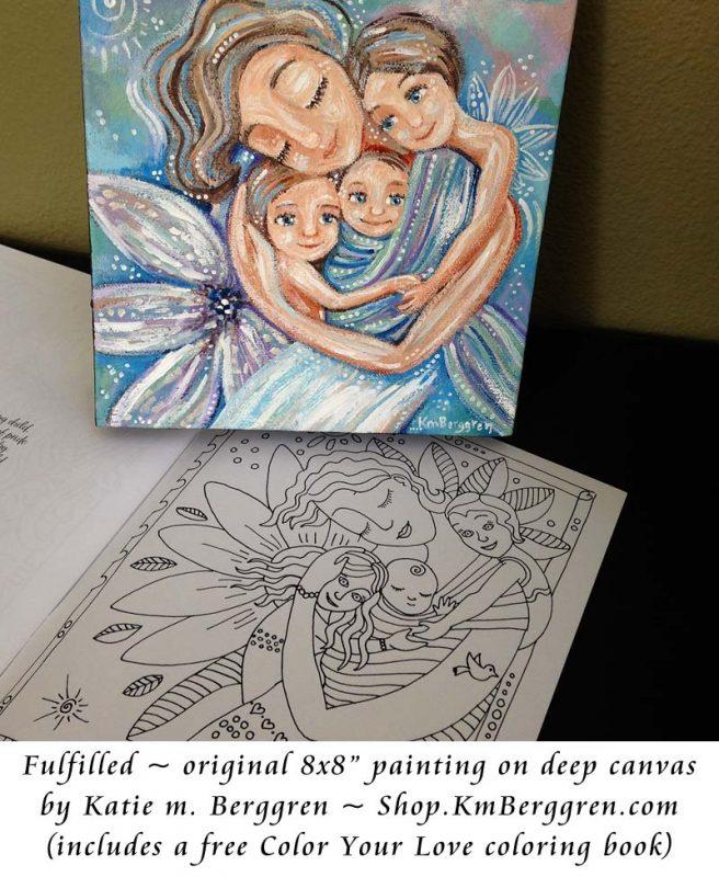 Fulfilled, brand new original painting from Katie m. Berggren. Shop.KmBerggren.com