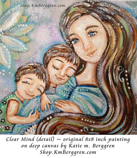 Clear Mind, new original painting by Katie m. Berggren