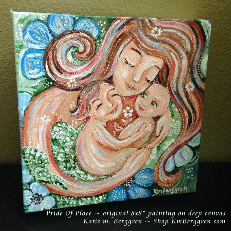 Pride Of Place, new original mini painting from Katie m. Berggren