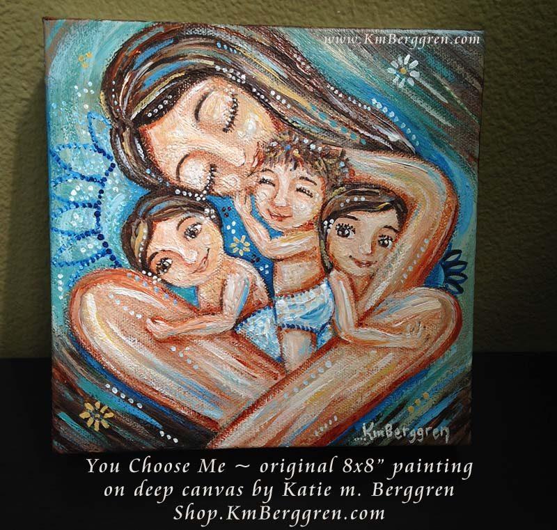 You Choose Me, new original painting by Katie m. Berggren