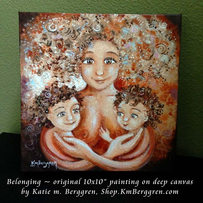 Belonging - new painting from Katie m. Berggren, shop.KmBerggren.com