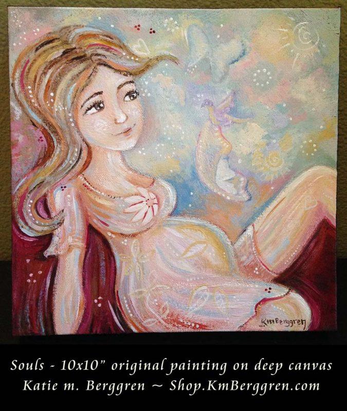 Souls - new painting by Katie m. Berggren, Shop.KmBerggren.com