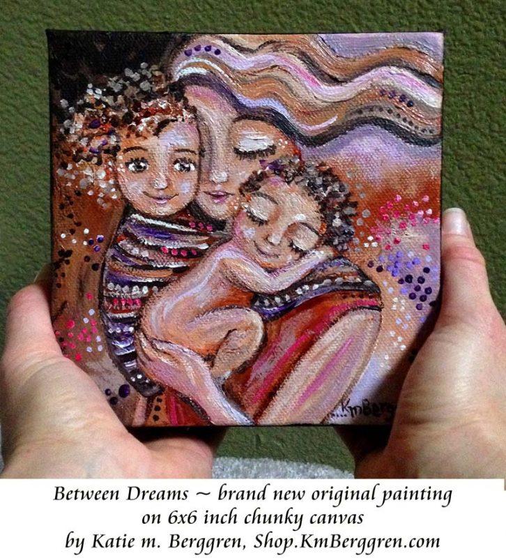 Between Dreams new available original painting by Katie m. Berggren, Shop.KmBerggren.com
