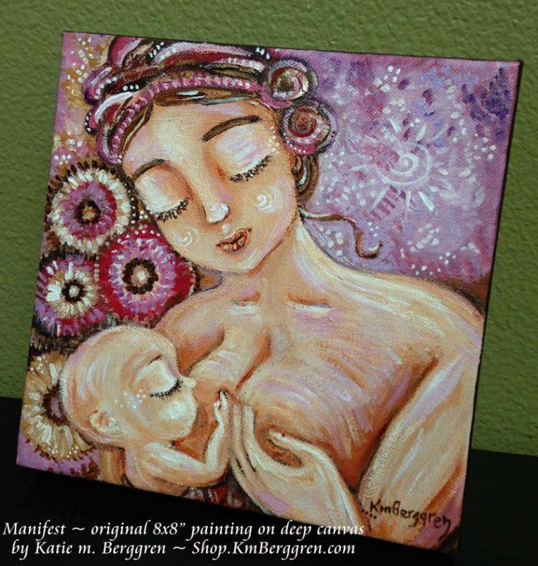 Manifest, original painting on canvas by Katie m. Berggren
