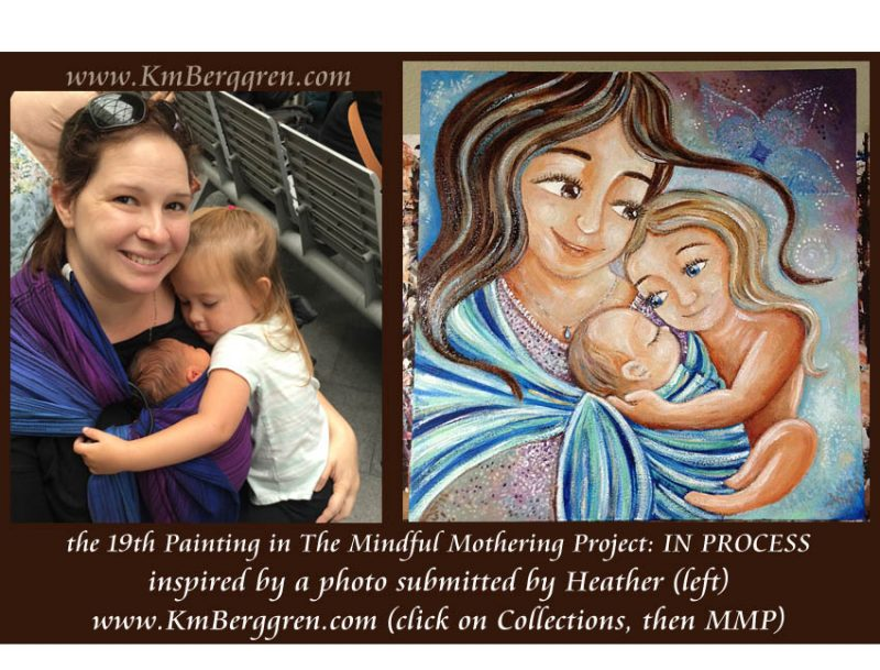 Mindful Mothering Project, painting in process by Katie m. Berggren