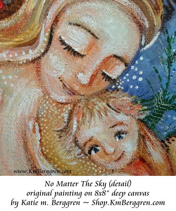 No Matter The Sky original painting by Katie m. Berggren www.Shop.KmBerggren.com