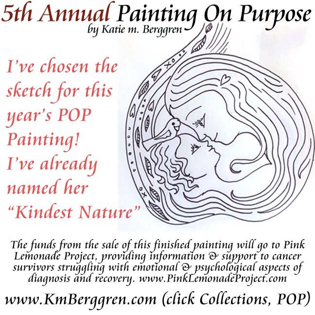 Painting On Purpose has begun ~ banana tea?