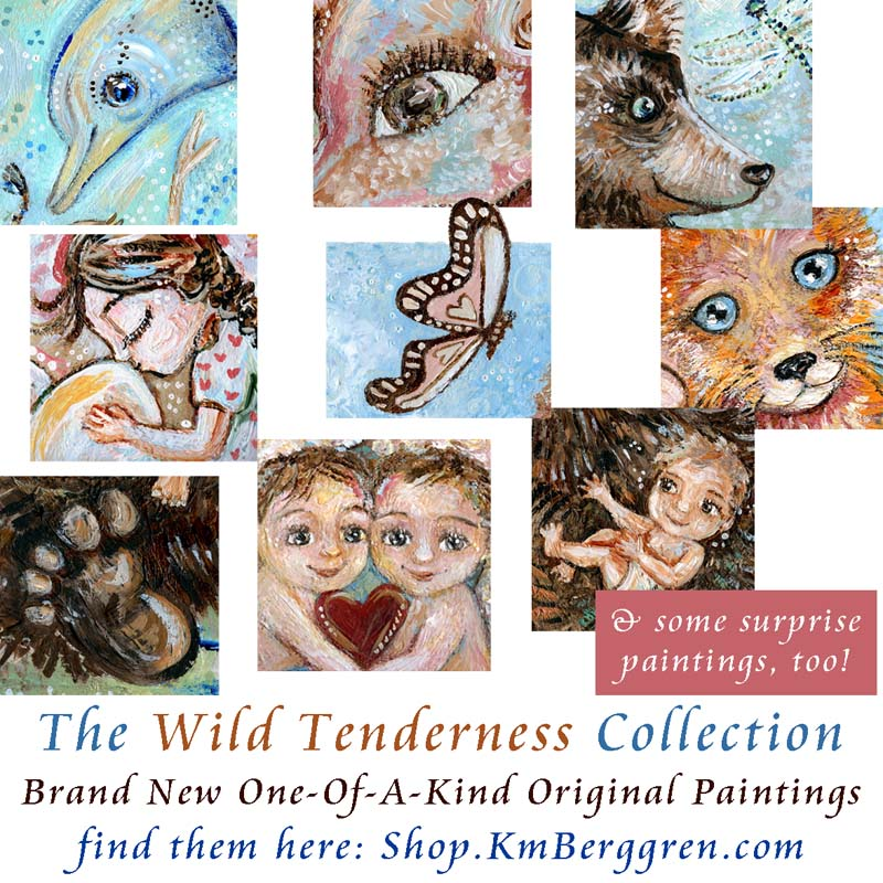Wild Tenderness babies and animals wall art