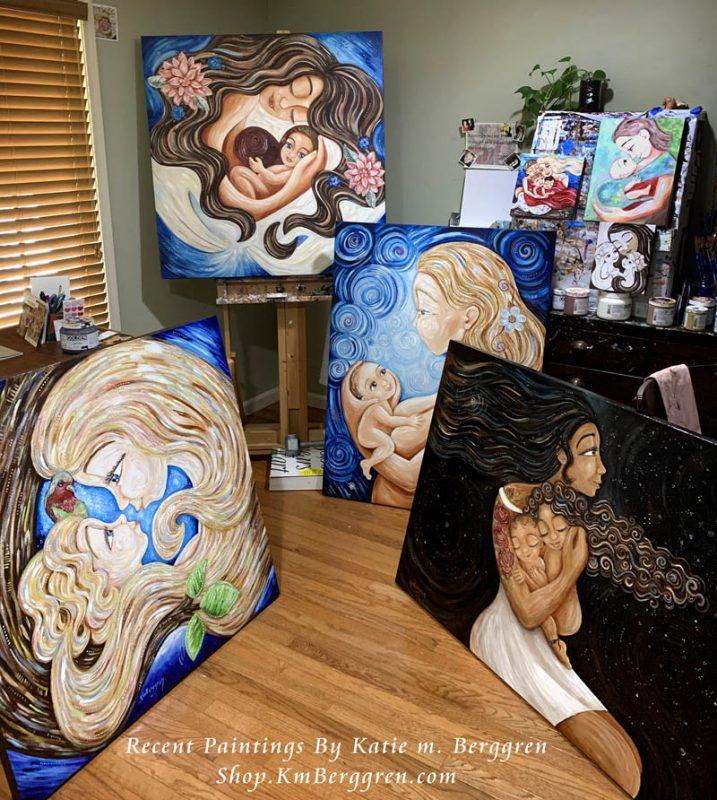 Recent Paintings in the Katie m. Berggren Studio