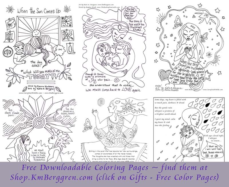 free motherhood coloring pages from Katie m. Berggren