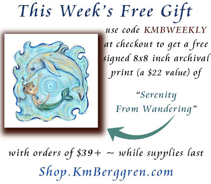 free weekly gift from Katie m. Berggren - free motherhood art print, intimate family paintings