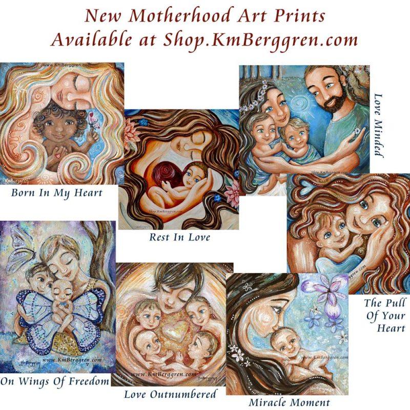new available motherhood art prints from Katie m. Berggren