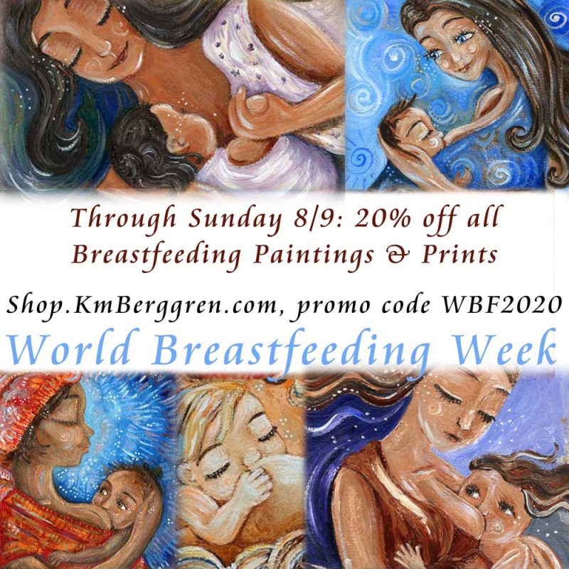 world breastfeeding week coupon for motherhood artwork