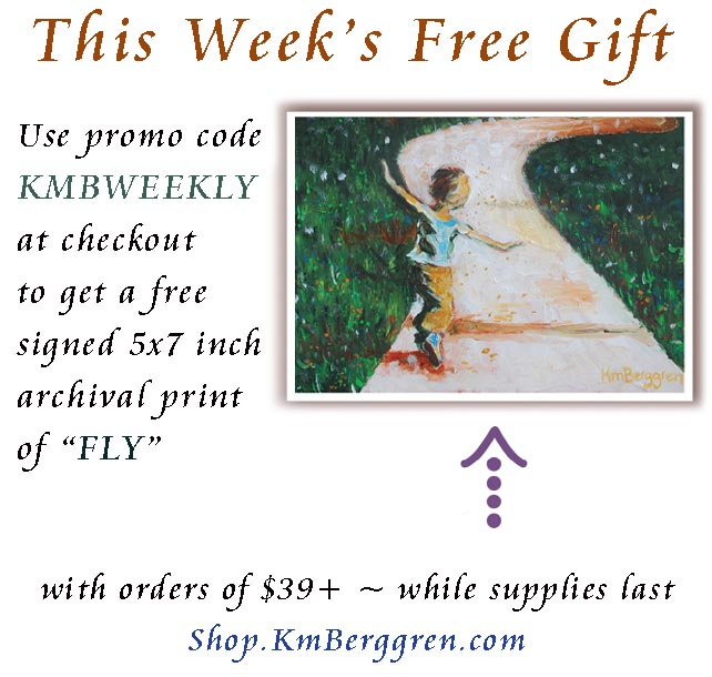 free art gift with purchase, gift with purchase, bogo art, free painting