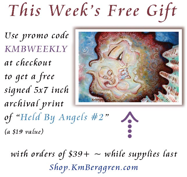free art gift, gift with purchase from artist, angel painting, angel gift for loss mom, gift for mom who lost baby, miscarriage gift