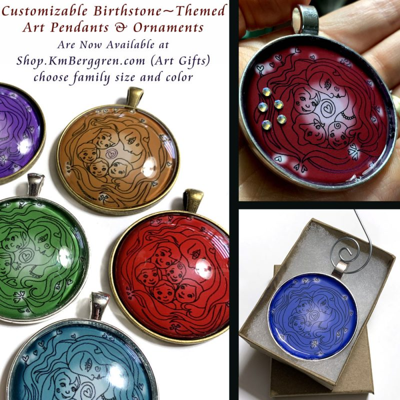 Birthstone Pendants & Ornaments for Holiday Gifts